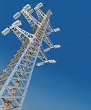 Power Transmission Line. 3d render stock images