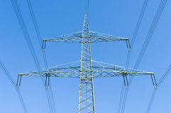 Power transmission line Stock Photos