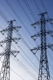 Power transmission line Stock Image