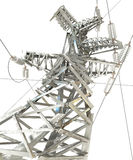 Power Transmission Line. 3d render Royalty Free Stock Photo