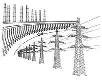 Power Transmission Line Stock Photography