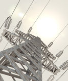 Power Transmission Line. 3d Royalty Free Stock Photo