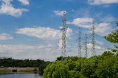Power transmission line Royalty Free Stock Photos