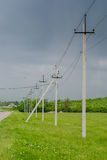 Power Transmission Line Pole Royalty Free Stock Photography