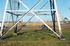 Power transmission line Stock Image