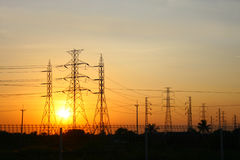 Power transmission line Royalty Free Stock Photography