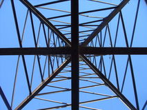 Power transmission line tower and heaven Royalty Free Stock Photo