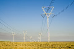 Power Transmission Lines 2 Royalty Free Stock Photography