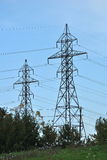 Power Transmission Lines. Electrical transmission lines and towers Stock Image
