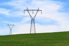 Power Transmission Lines Stock Photography
