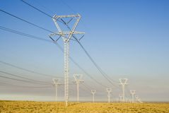 Power Transmission Lines Stock Images