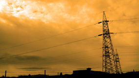 Power Transmission Lines Royalty Free Stock Image