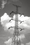 Power transmission lines Stock Image
