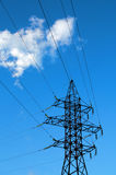 Power transmission lines Royalty Free Stock Images