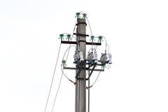 Power transmission pillar. Isolated Stock Images