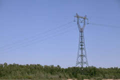 Power transmission pole Stock Images