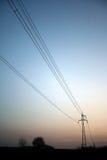 Power-transmission pole Royalty Free Stock Image