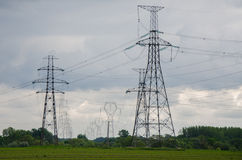 Power-transmission poles Royalty Free Stock Photography
