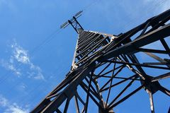 Power transmission pylon Stock Images