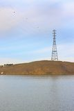 Power transmission tower. High voltage power transmission tower royalty free stock images