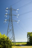 Power transmission tower. And wires royalty free stock photography