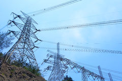 Power transmission tower royalty free stock images