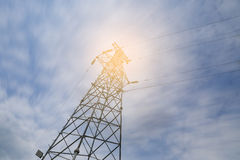 Power transmission tower Royalty Free Stock Photos