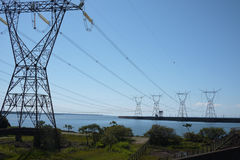 Power transmission tower. Brazil electricity Royalty Free Stock Photography