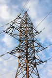 Power transmission tower with cables. Royalty Free Stock Image
