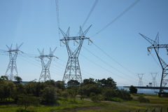 Power transmission tower. Eletrical hydroelectric Royalty Free Stock Image