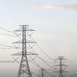 Power transmission tower. Line of electricity distribution royalty free stock photos