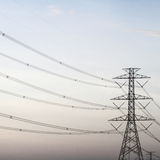 Power transmission tower. Line of electricity distribution royalty free stock image