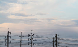 Power transmission tower Stock Photos