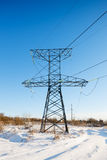 Power transmission tower on sky. Background stock photos