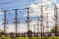 Power transmission towers Stock Image