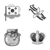 Power, travel and other monochrome icon in cartoon style.beekeeping, art icons in set collection. Royalty Free Stock Images