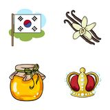 Power, travel and other web icon in cartoon style.beekeeping, art icons in set collection. Stock Photo