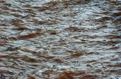 Power of a  troubled water, flood Royalty Free Stock Photos