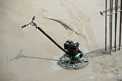 Power Trowel on Fresh Concrete Royalty Free Stock Photo