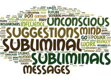 The Power Of The Unconscious Do Subliminals Work Text Background  Word Cloud Concept Stock Images