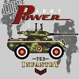 Power. Vector illustration for children clothes Royalty Free Stock Images
