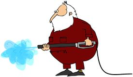 Power Washer Santa Stock Image
