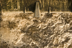 Power of water. It is detail of turbulent water masses Royalty Free Stock Photos