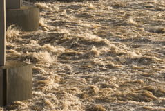 Power of water. It is detail of turbulent water masses Royalty Free Stock Photography