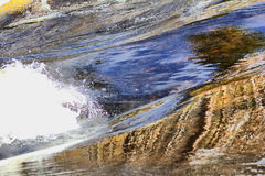 The power of water  spring flow Royalty Free Stock Images