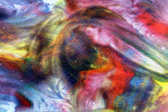 Power in watercolor. Enjoy the ride, colorful watercolor painting with lots of movement Stock Photography