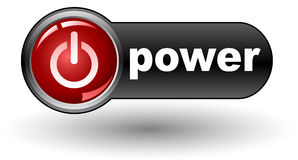 Power on (on) - web button Royalty Free Stock Photography