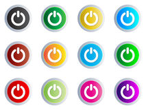 Power web button different colors Stock Image