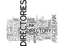 The Power Of Web Directories Text Background  Word Cloud Concept Royalty Free Stock Photos