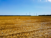 Power of wind and agriculture field Royalty Free Stock Images